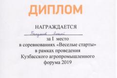 Батраков А._Диплом 1 м._Весел. старты_28.06.2019
